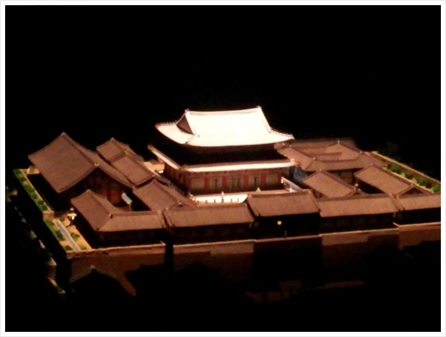 회암사지 보광전의 모형 모습