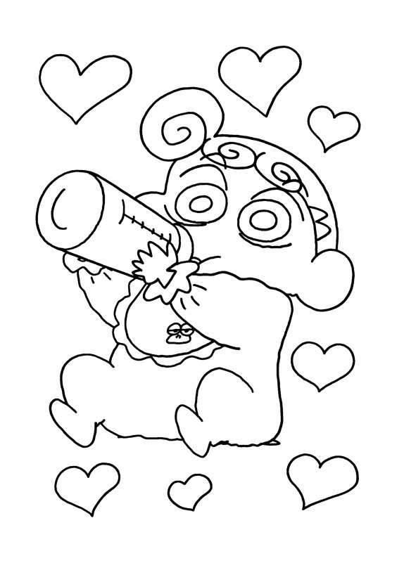 3 for Shin chan coloring pages