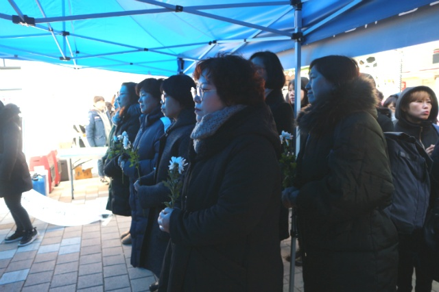고 김복동 할머니 창원추모제에서 결의하다^^