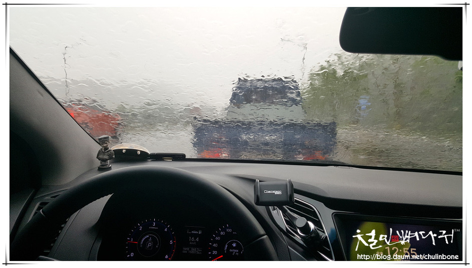 [▶] 중부고속도로에서 만난 엄청난 폭우