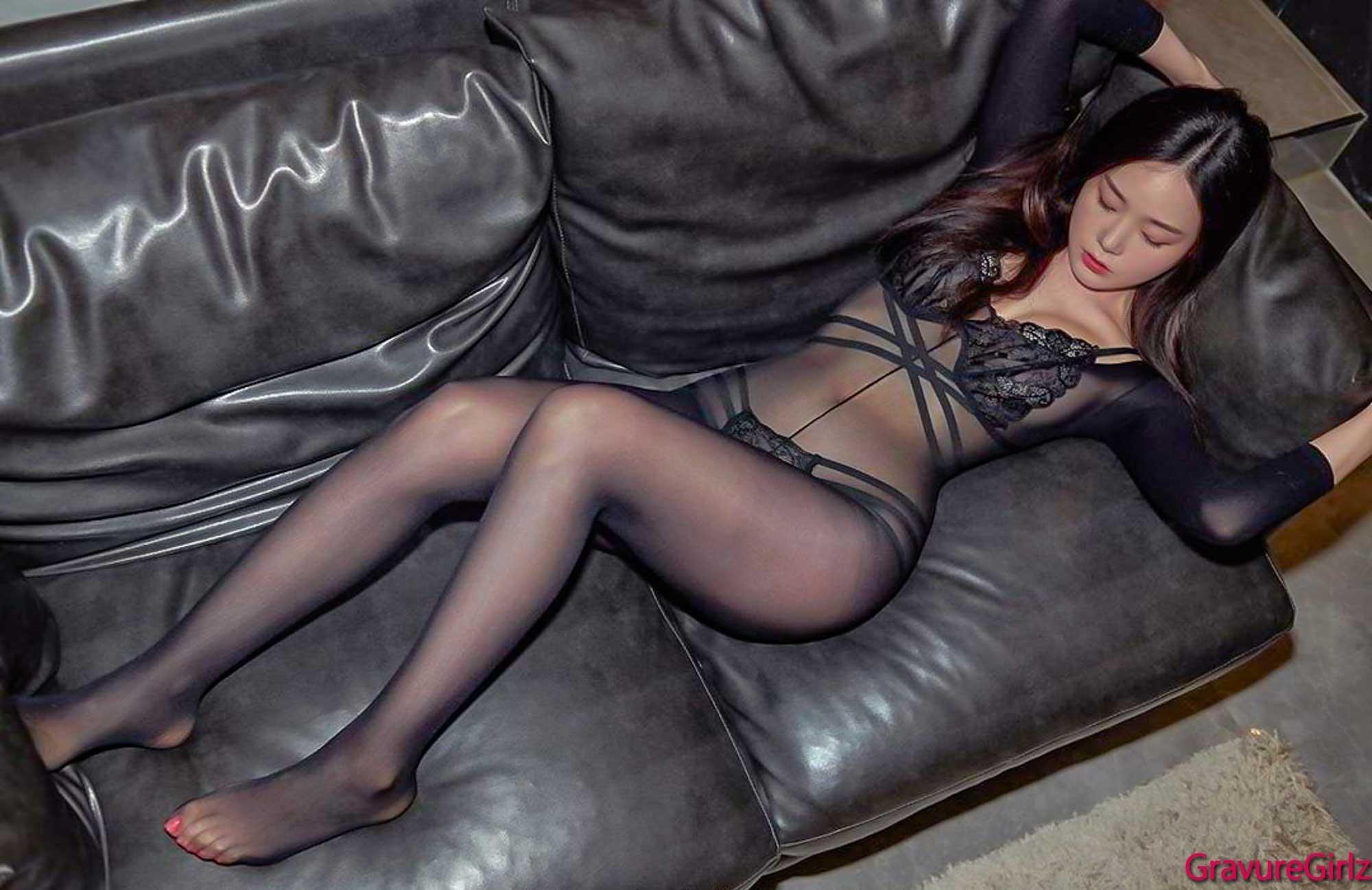 hot Korean girl wearing sexy lingerie