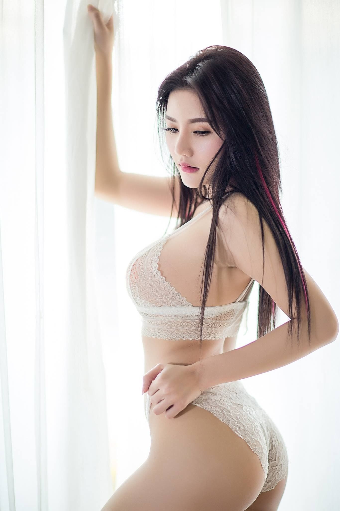 hot lingerie Asian woman
