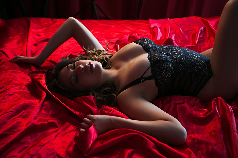 cool glamour in laying bed